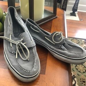 Sperry Gray Leather Men's Top-Sider Shoes 11.5m